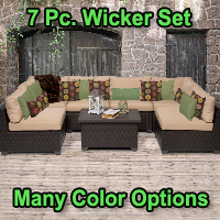 Premium 7 Piece Outdoor Wicker Patio Furniture Set