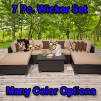 Brand New 2014 Premium 7 Piece Outdoor Wicker Patio Furniture Set