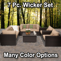 Brand New 2015 Premium 7 Piece Outdoor Wicker Patio Furniture Set