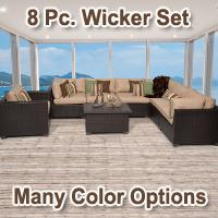Premium 8 Piece Outdoor Wicker Patio Furniture Set