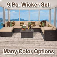Premium 9 Piece Outdoor Wicker Patio Furniture Set