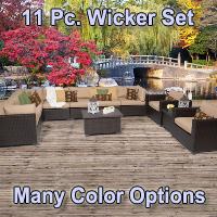 Premium 11 Piece Outdoor Wicker Patio Furniture Set