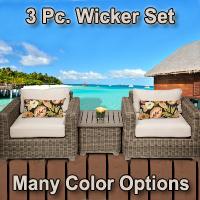 Regal 3 Piece Outdoor Wicker Patio Furniture Set