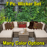 Regal 7 Piece Outdoor Wicker Patio Furniture Set