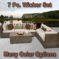 Regal 7 Piece Outdoor Wicker Patio Furniture Set