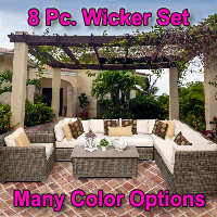 Regal 8 Piece Outdoor Wicker Patio Furniture Set