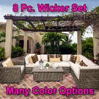 Regal 8 Piece Outdoor Wicker Patio Furniture Set