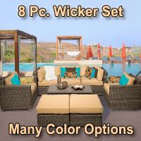 Brand New Regal 8 Piece Outdoor Wicker Patio Furniture Set