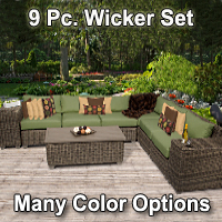 Brand New 2015 Regal 9 Piece Outdoor Wicker Patio Furniture Set