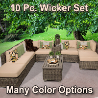 Brand New Regal 10 Piece Outdoor Wicker Patio Furniture Set