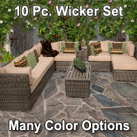 Brand New 2015 Regal 10 Piece Outdoor Wicker Patio Furniture Set