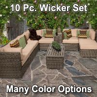 Brand New Regal 10 Piece Outdoor Wicker Patio Set