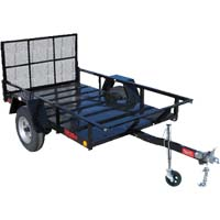 "Heavy Duty 8' x 4'6"" One Place Four Wheeler ATV Trailer"