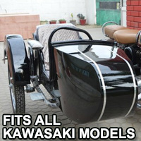 Beemer Side Car Motorcycle Sidecar Kit - Fits All Kawasaki Models