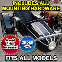 Rocket Side Car Motorcycle Sidecar Kit - Fits All Models