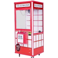 "Telephone Plush Crane 33"" Claw Machine - With DBA - CM-TEP-004"