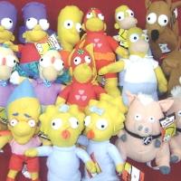 Simpsons Licensed Plush Toys For Crane Machine - 150 Pieces