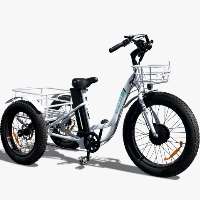 500 Watt Caddy Electric Powered Fat Tire Tricycle Motorized 3 Wheel Trike Scooter Bicycle - Caddy