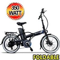 "Crosstown 36v 350w 20"" Tires Foldable Electric Bike - Crosstown"
