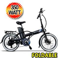 "Crosstown 36v 350w 20"" Tires Foldable Electric Bike - Crosstown"