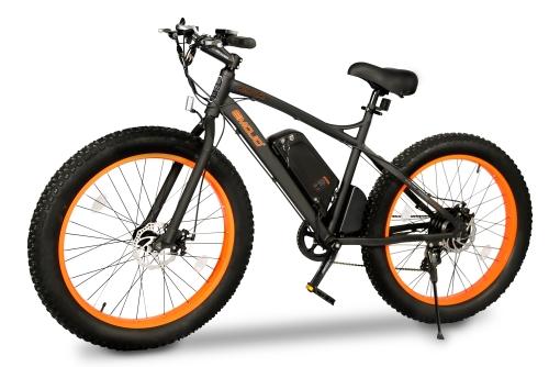 500 Watt Electric 48v Lithium Battery Fat Tire Bike Beach Cruiser ...