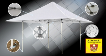High Quality 15x15 White Ez Pop Up Tent Instant Canopy Shade