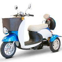 500 Watt Electric Powered Euro Style 2 Color Sport Scooter Trike - EW-11
