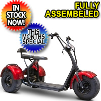 Electric Fat Tire Trike Mobility Scooter Chopper Style 1000 Watt Model EW-21