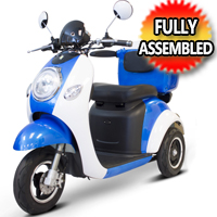 E Wheels 800 Watt Electric Trike Moped Scooter - Model EW-37