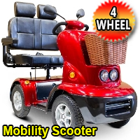 E Wheels 1200 Watt 4 Wheel Electric Mobility Scooter - Model EW-88