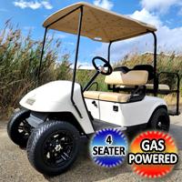EZ GO Gas TXT Golf Cart With Rear Flip and Custom Rims & Tires