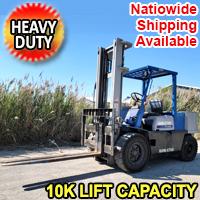Komatsu FG40 Heavy Duty Gas Fork Lift 10k Lift Capacity With 7,000 Hrs