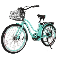 Malibu Elite Step-Through Beach Cruiser Electric Bicycle - 24MALIBU-E