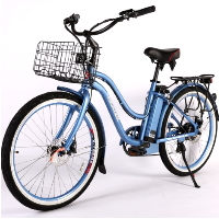 Malibu Elite Max 36 Volt Step-Through Electric Beach Cruiser Bicycle
