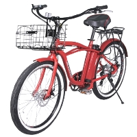 Newport Elite Electric Beach Cruiser Bicycle - NEWPORT24-E