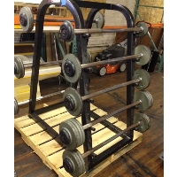 Refurbished Barbell Rack with Barbells