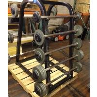 Refurbished Barbell Rack with Barbells