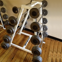 Refurbished Bodymaster Rack & Barbell Set- Straight Bars