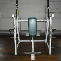 Refurbished Bodymaster Seated Millitary Press Rack