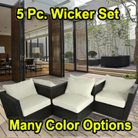 Brand New 5 Piece Rattan Sofa Wicker Furniture Set