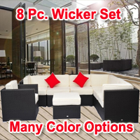 Brand New 8 Piece Outdoor Rattan Sofa Wicker Furniture Set