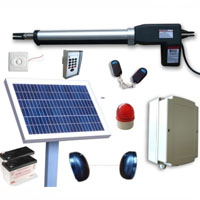 Solar Powered AC/DC Single Swing Gate Opener Kit