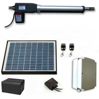 Solar Powered Medium-Heavy-Duty AC/DC Single Swing Gate Operator With Accessories