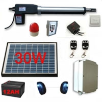 30W Solar Powered Gate Operator Full Kit  for Single Swing Gates