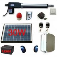 30W Solar Powered Gate Operator Full Kit  for Single Swing Gates