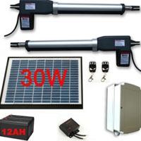 Solar Powered Plus Gate Operator for Dual Swing Gates