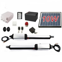 Heavy Duty Solar Dual Swing Gate Opener + Accessories