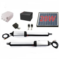 Heavy Duty 20W Solar Dual Swing Gate Opener