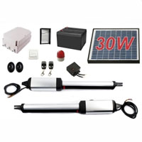 Residential/Commercial 30W Solar Dual Swing Gate Opener + Accessories
