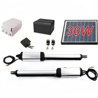 Heavy Duty 30W Solar Dual Swing Gate Opener